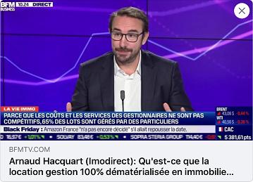 Imodirect partage son expertise sur BFM TV - Patrimoine